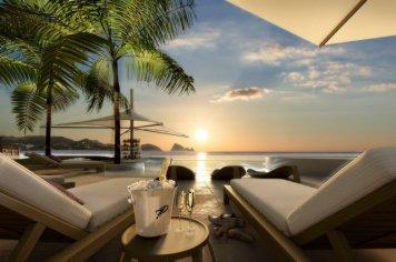 "LIM 7Pines Pool Sonne - Escape to Paradise – Neues Luxusresort ""7 Pines"" auf Ibiza"
