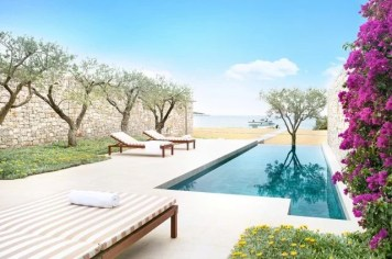 hotel amanzoe heli porto beach cabana - Die exklusivsten Luxushotels Griechenlands
