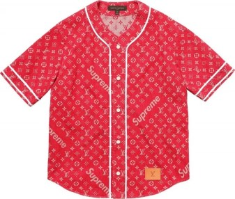 Supreme Louis Vuitton Baseball Shirt - Louis Vuitton x Supreme