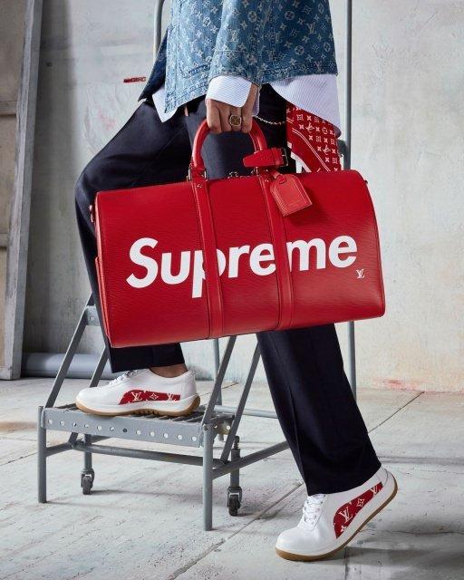 Supreme Louis Vuitton Holdall Speedy Keepall - Louis Vuitton x Supreme