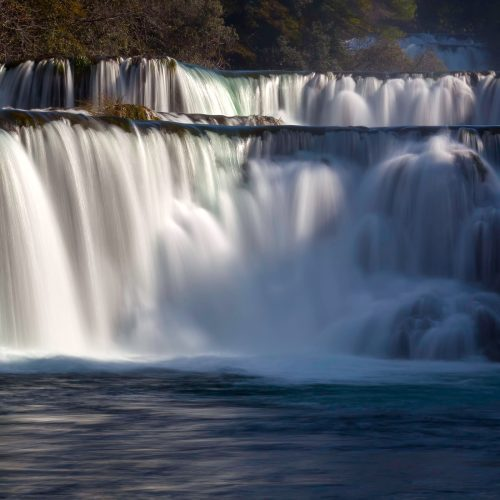 Waterfalls on Krka River. National Park, Dalmatia, Croatia
