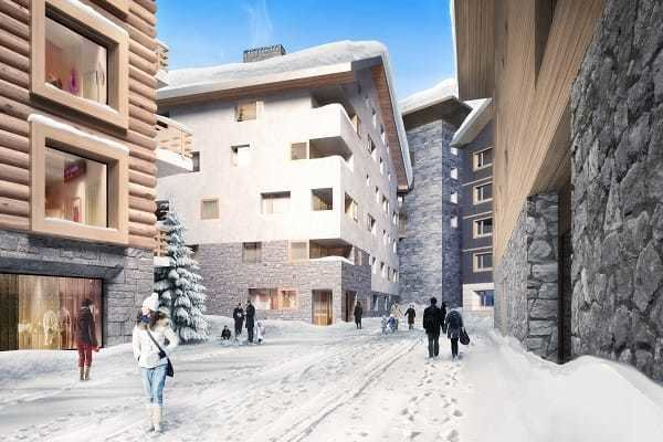 apartments in the Swiss Alps winter