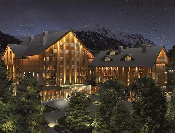 The Chedi Hotel in the Andermatt Swiss Alps, Switzerland