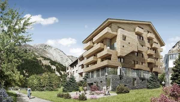 Apartment development in Andermatt, Switzerland
