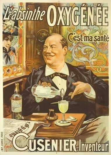 Poster depicting the Absinthe Ritual