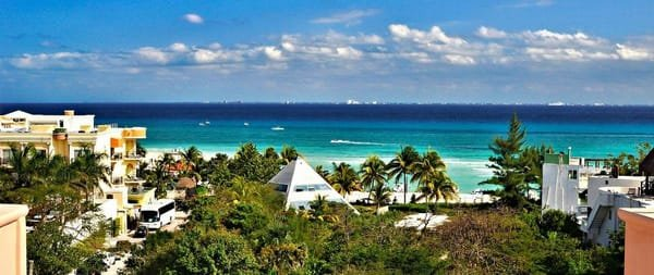 Beach view from Acanto Boutique Hotel Playa del Carmen
