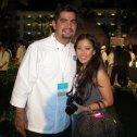 Food Network chef Aaron Sanchez and Roz du Jour of Luxury Branded