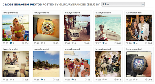 instagram stats luxurybranded
