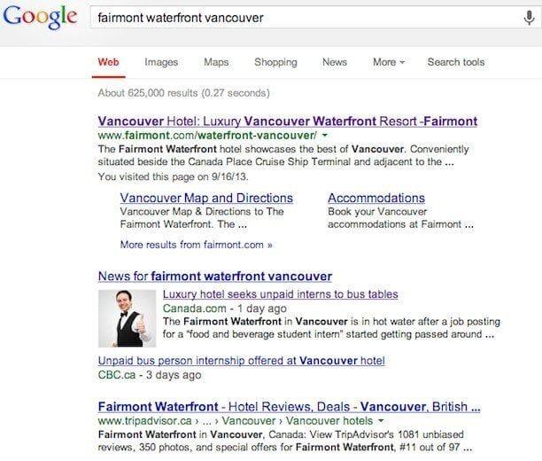 fairmont waterfront vancouver news
