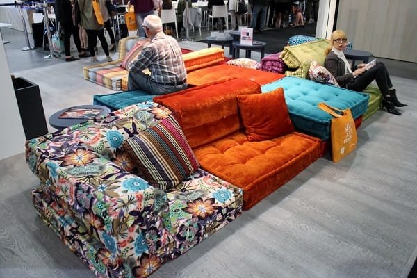 The Roche Bobois MAH JONG couch at IDSwest.