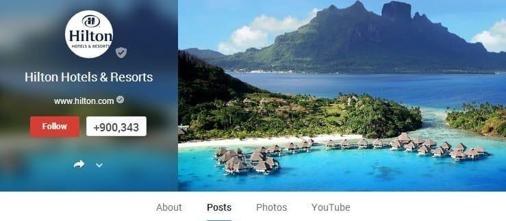 Hilton Google+