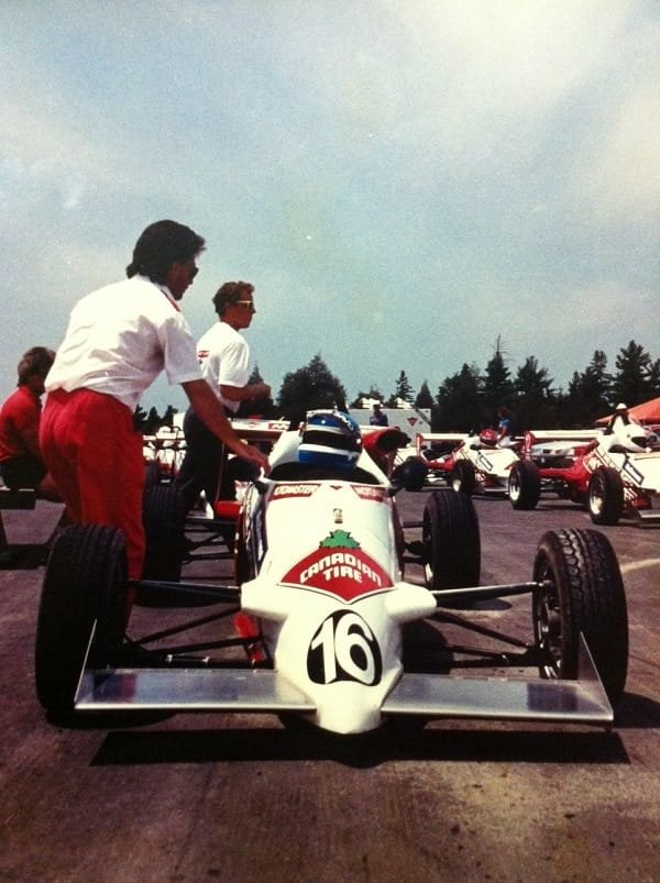 Bill Drossos at the Shannonville, Ontario racing school in