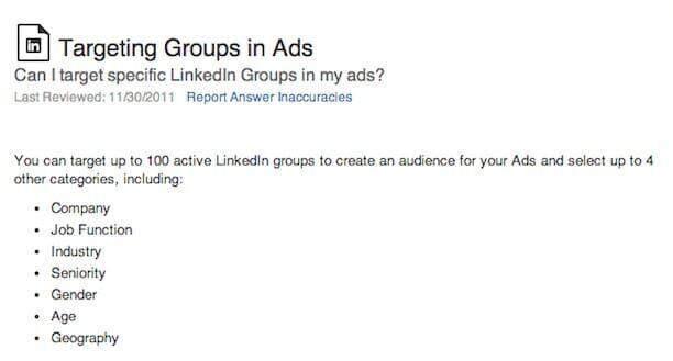 linkedin group advertising