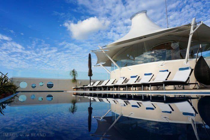 Rooftop Infinity pool at the Artisan Hotel Playa del Carmen
