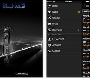 blackjet iphone app