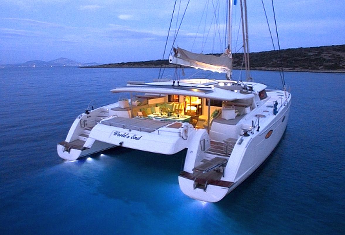 Charter Sailing Catamaran WORLDS END In Greece Luxury