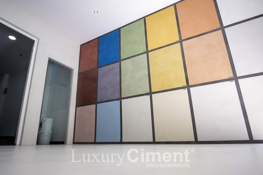 Los color en nuestro Showroom microcemento Luxury Ciment