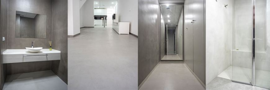 microtopping concrete floors foto