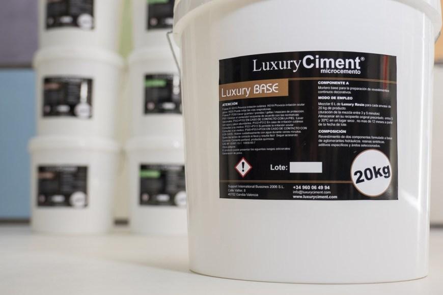 Microcemento Base Luxury Ciment para preparacion de sopore