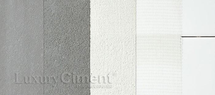 las diferentes capas de microcemento sobre azulejo