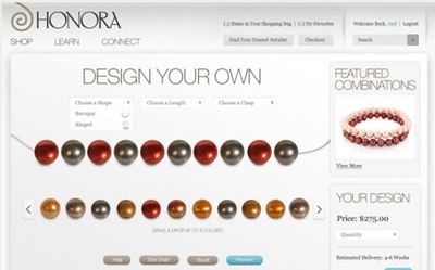 Honora will soon let consumers design their own pearl accessories
