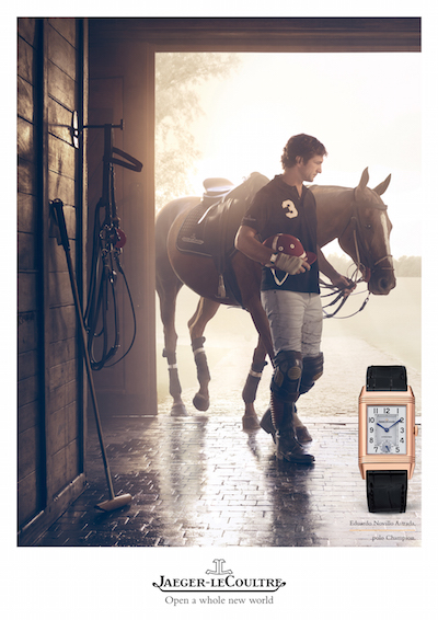 Photo of Polo champion Eduardo Novillo Astrada in Jaeger LeCoultre campaign ad