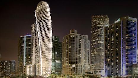 Rendering of Aston Martin Residences in Miami