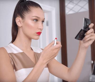 dior.bella hadid dior makeup series 1