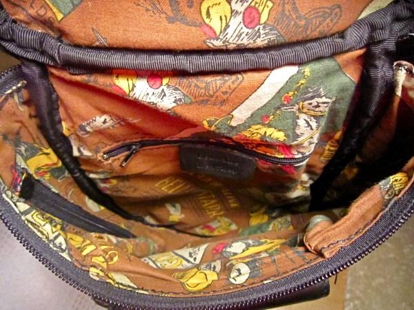 Genuine Black Cowhide Leather Zip-Top Backpack-4