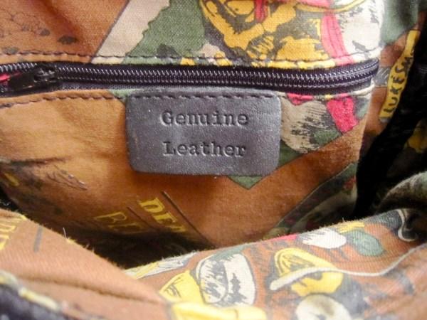 Genuine Black Cowhide Leather Zip-Top Backpack-5