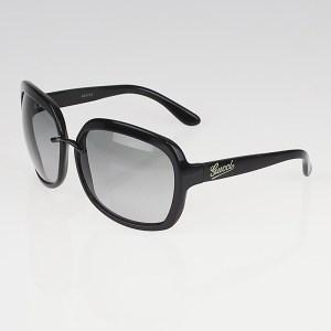 Gucci Black Frame Gradient Tint Sunglasses