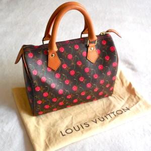 Louis Vuitton x Takashi Murakami Cherry Speedy 25 Handbag