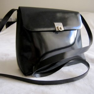Picard Black Patent Leather Crossbody
