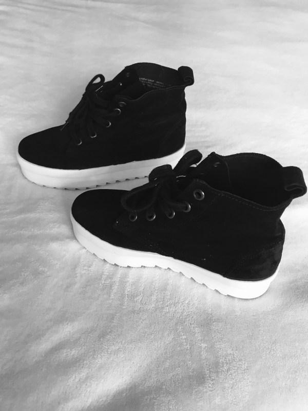Shellys London Black Suede Murci-Platform Sneakers-3