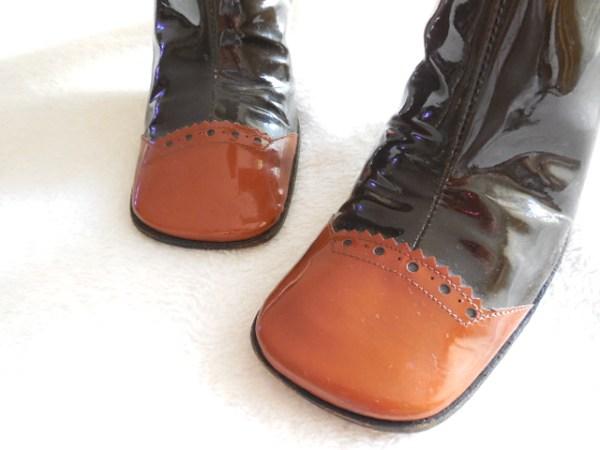 Stephanie De Raucourt Patent Leather Boots-1