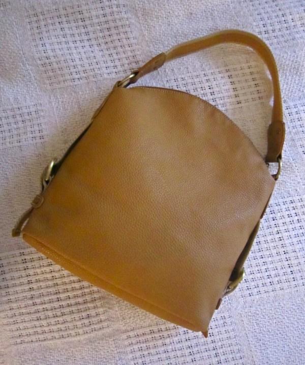 Tommy Hilfiger Mustard Leather Hobo Bag-2