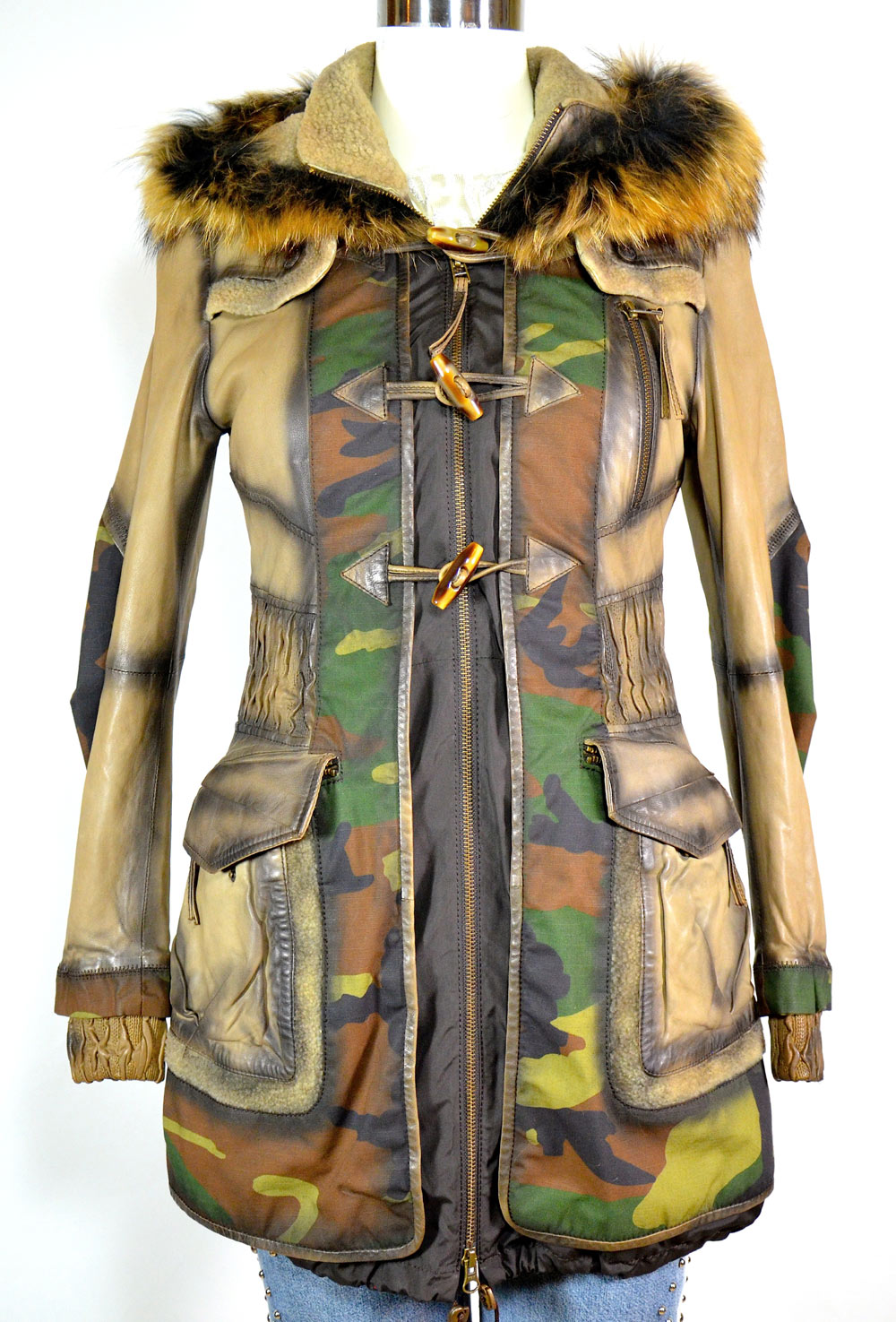 new style ab8cd 5df86 Parka Montgomery cuero y tejido - Luxury Leather Couture by Andrea Nicolotti