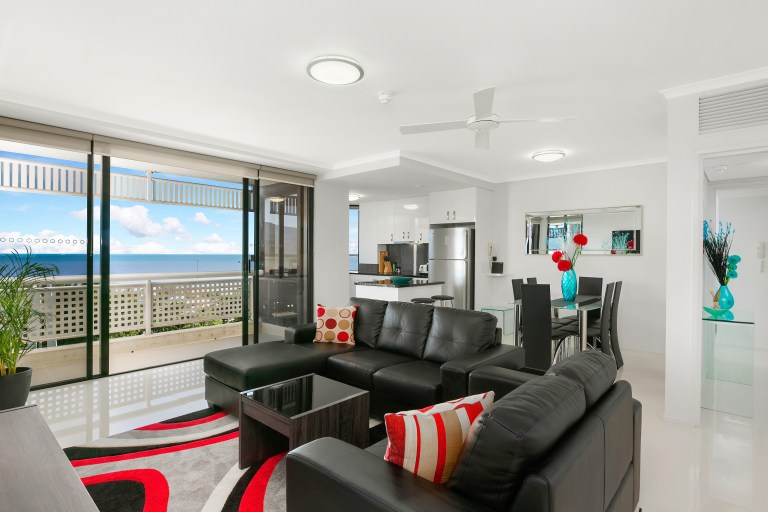 1. Cairns Luxury Seafront Apartment Living Room 1