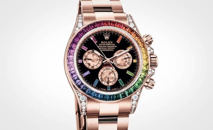 不只彩虹圈,連時標也漸層起來ROLEX Daytona計時錶- 世界高級品LuxuryWatcher