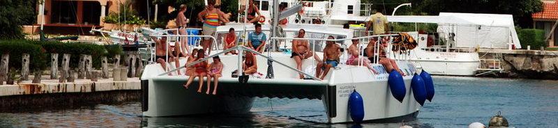 Catamarans at Riviera Maya