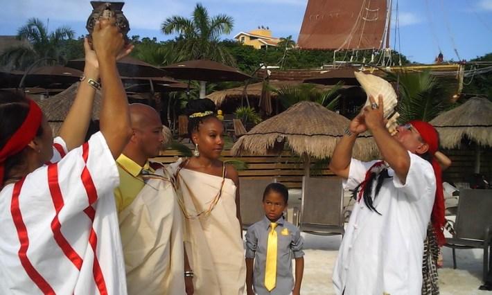 Mayan wedding at the beach