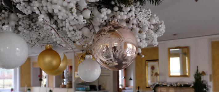 Weihnachtsdekoration im Wellnesshotel Meerlust