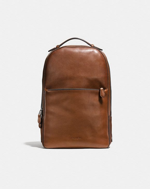 crazy price united states super quality Sac à dos COACH homme souple métropolitain en cuir de veau | Luxymind