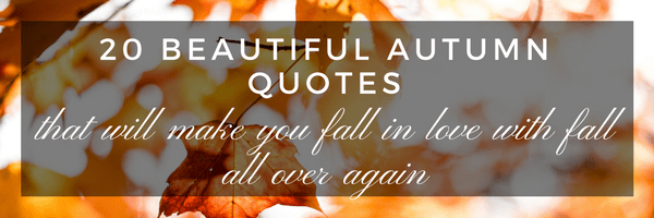 20 Beautiful Autumn Quotes That Will Make You Fall In Love With Fall