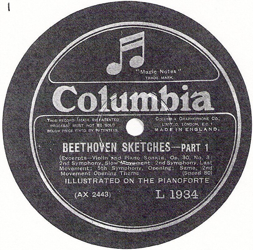 Michel Rouch: Le premier disque d' esquisses de Beethoven