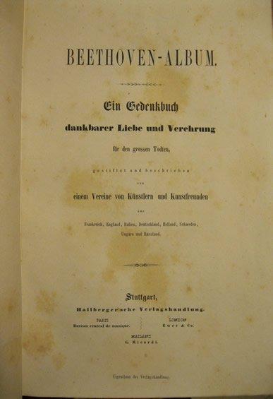 Beethoven-Album : ein Gedenkbuch (1846)