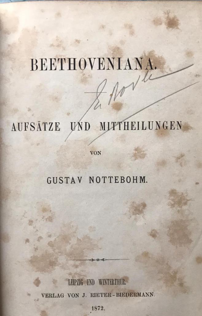 Beethoveniana I - Gustav Nottebohm