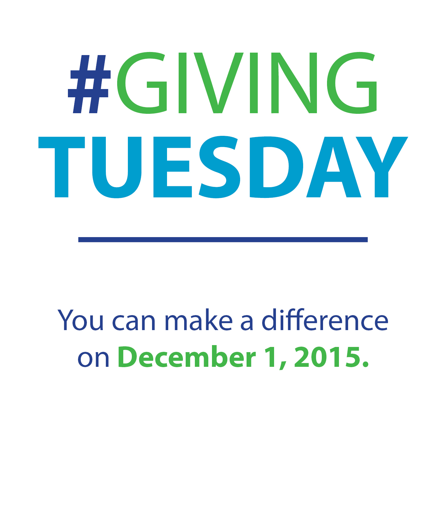 #GivingTuesday You can make a difference on December 2, 2014