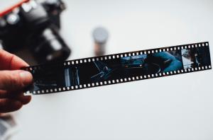 film camera's negative