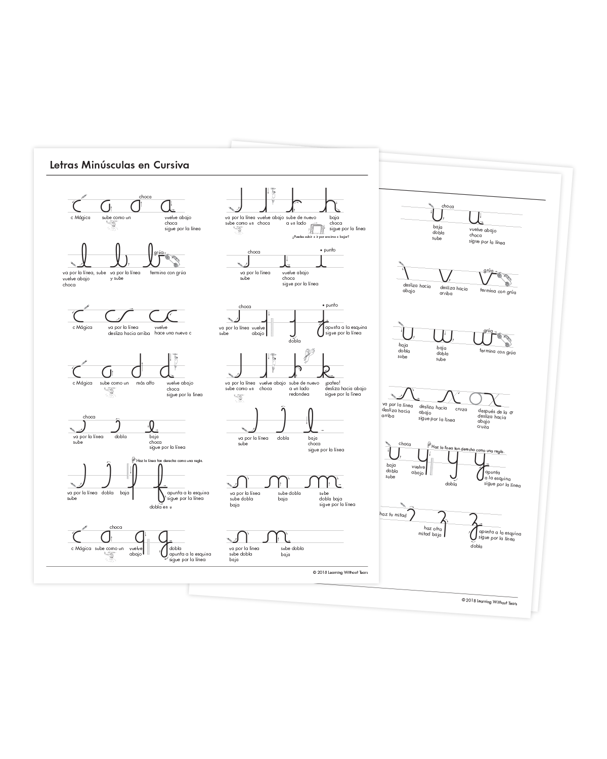 Spanish Cursive Letter Formation Charts